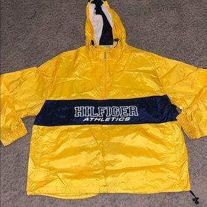 Tommy Hilfiger Athletics yellow logo windbreaker